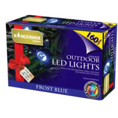 160 Blue Multi Action LED Christmas Lights