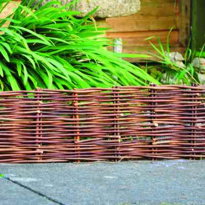 20cm x1m Willow Garden Edging Panel