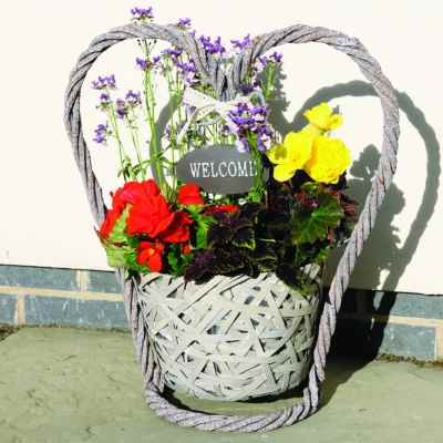 Heart Shaped Welcome Planter