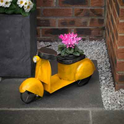 Vintage Moped Planter