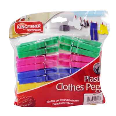40 Pack Plastic Clothes Pegs
