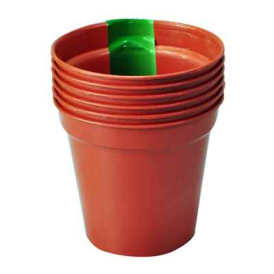 6 Pack x 10cm(4in) Plant Pots
