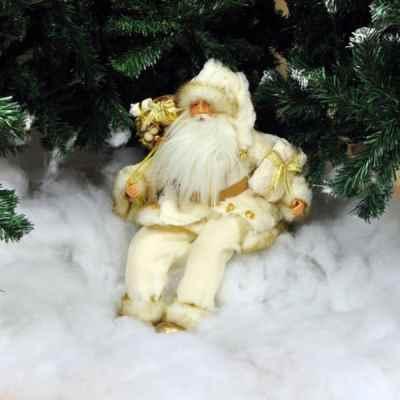 White Sitting Santa