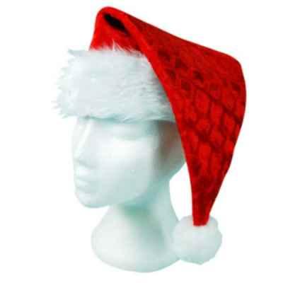 Deluxe Velour Christmas Santa Hat
