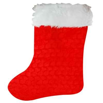 Deluxe Velour Christmas Stocking