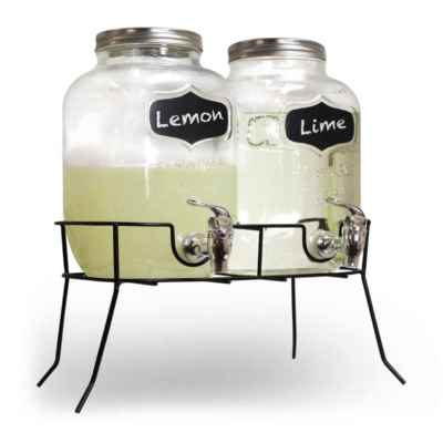 Double Glass Drinks Dispenser
