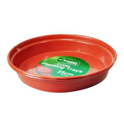 2 pk Plant Pot Trays to fit up to 26cm(10in) Pots