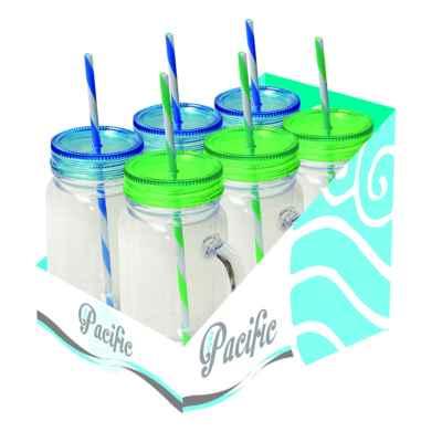 Kids plastic drinking jar with Straw