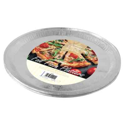 3 Pack of 12inch Round Foil Platters
