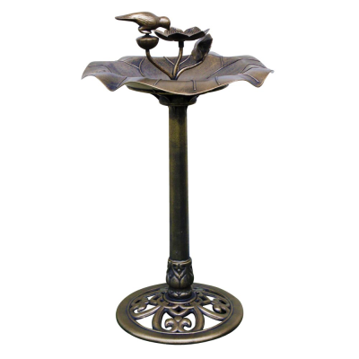 Copper Effect Bird Bath