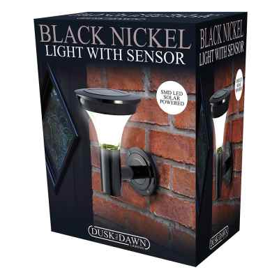 Black Nickel SMD Solar Wall Light