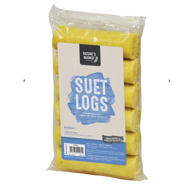 6 Pack of Insect and Mealworm Suet Logs