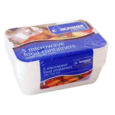 5 Pack of Microwave Food Containers with Lids