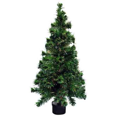 6ft (180cm) Colour Changing Fibre Optic Xmas Tree