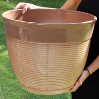 Large Glazed Ceramic Effect Plastic Planter