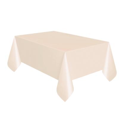 2 Pack of 120 x 120cm Cream Plastic Table Covers