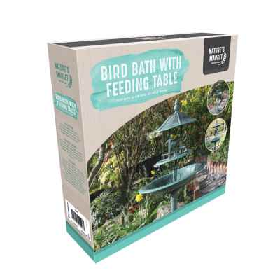 Bird Bath with Sheltered Feeding Table