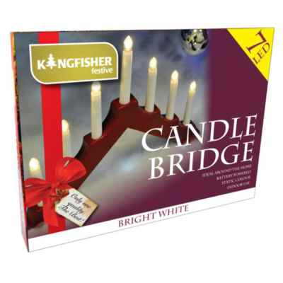 Battery Operated Christmas Candle Bridge