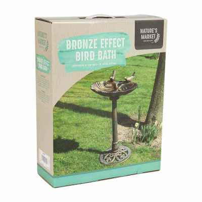 Bronze Effect Plastic Bird Bath