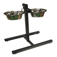 Stainless Steel Pet Bowl Set with Adjustable Stand