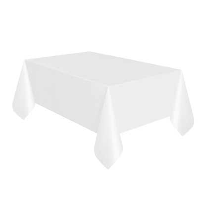White Paper Table Cloth with Plastic Backing
