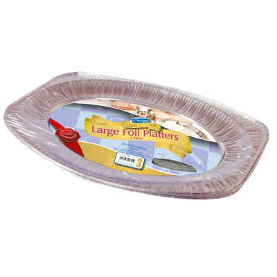 3 Pack of 17 inch Foil Platters