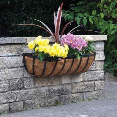 24in Wall Trough Planter with Coco Liner