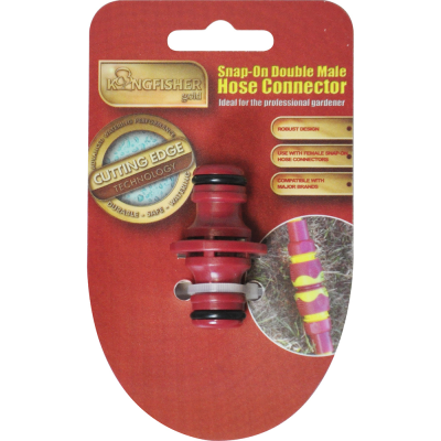Pro Gold Snap On Double Male Hose Pipe Adapter