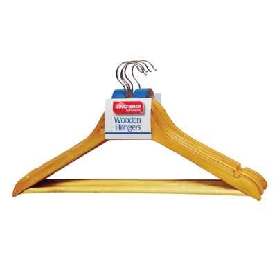 5 Pack of Wooden Coat Hangers