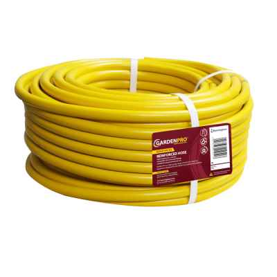 Garden Pro 100m Yellow Reinforced Garden Hose