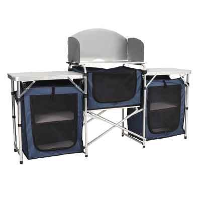 Large Dark Blue Camping Kitchen