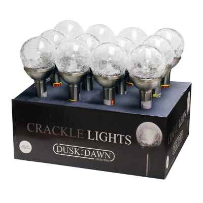 Small Solar Powered Crackle Glass Ball Light