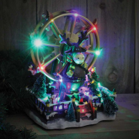 Battery Operated Big Wheel Xmas Village Scene