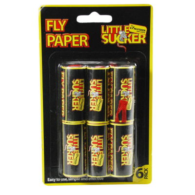 6 Pack Fly Paper Strips