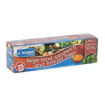 25 Pack Press Seal Plastic Food Bags