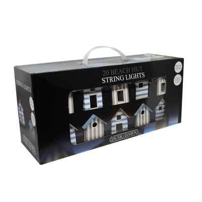20 Beach Hut Solar Powered String Lights