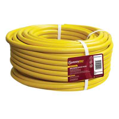 Gold 50m Yellow Reinforced Garden Hose