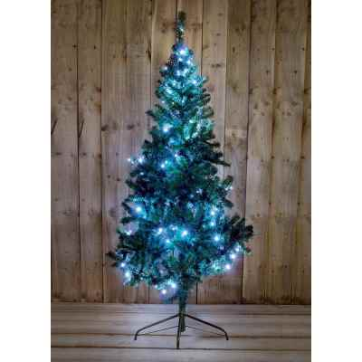6ft (180cm) Pre Lit Pine Christmas Tree