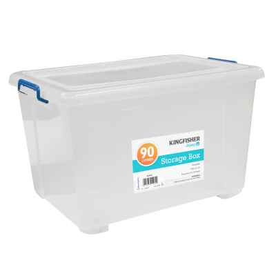 90L Plastic Storage Box With Wheels