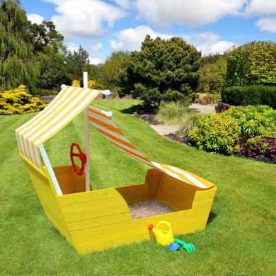 Wooden Pirate Ship Sand box