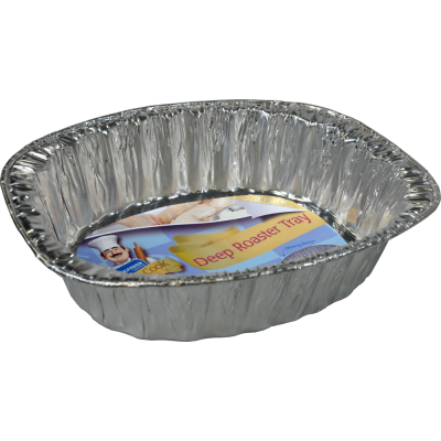 3 Pack of 14inch Oval Foil Deep Roasting Trays
