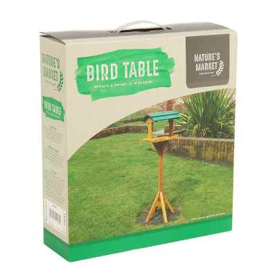 Traditional Wooden Bird Table