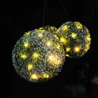 Set of Three Christmas Topiary Balls