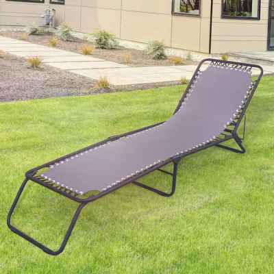 Grey Garden Sun Lounger