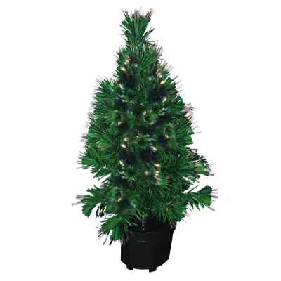 2ft (60cm) Colour Changing Fibre Optic Xmas Tree