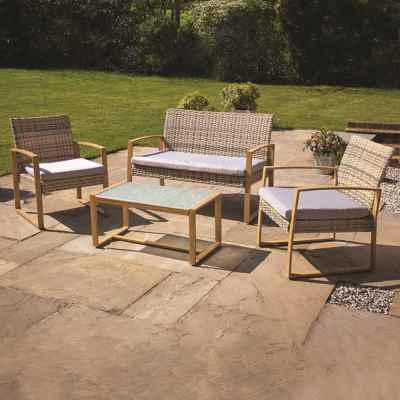 4Pcs Rattan Furniture Set