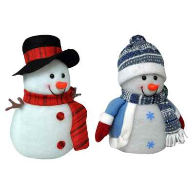 Battery Operated Flashing Christmas Snow Man