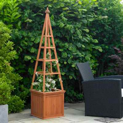 Obelisk Planter with Trellis