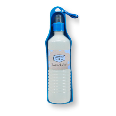 Travel Pet Water Bottle and Drink Tray