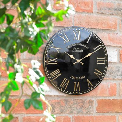 12 Inch Black Acacia Clock